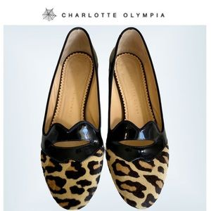 Charlotte Olympia Bisoux Leopard Flats